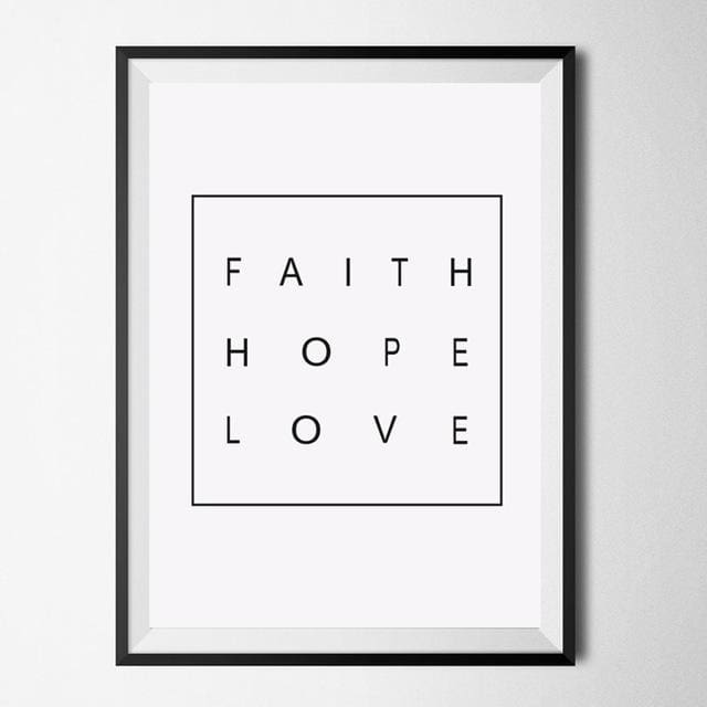 Nordic Wall ArtPoster - 10x15cm no frame / faith quote - Wall Poster