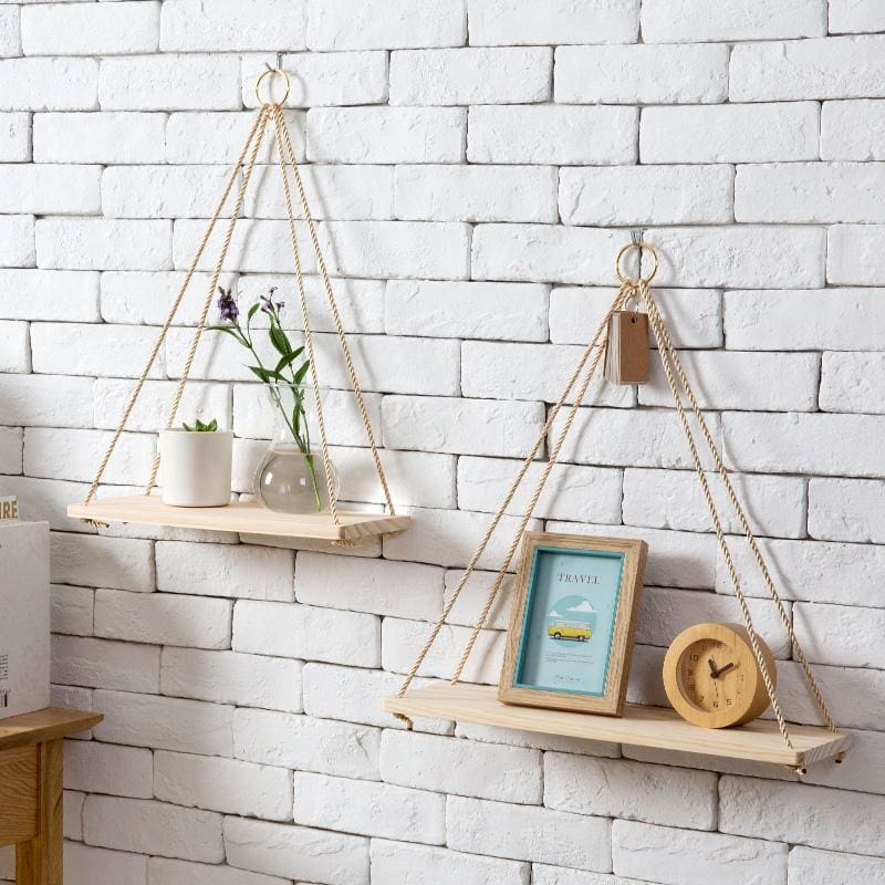 Nordic Wooden Sling Shelf - sling rack