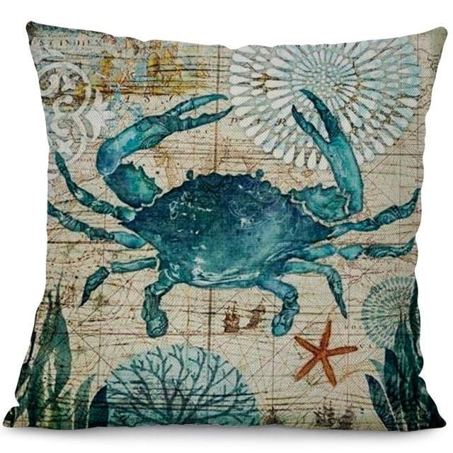 Ocean Creatures Pillowcase - 44x44cm / Crab - pillow case