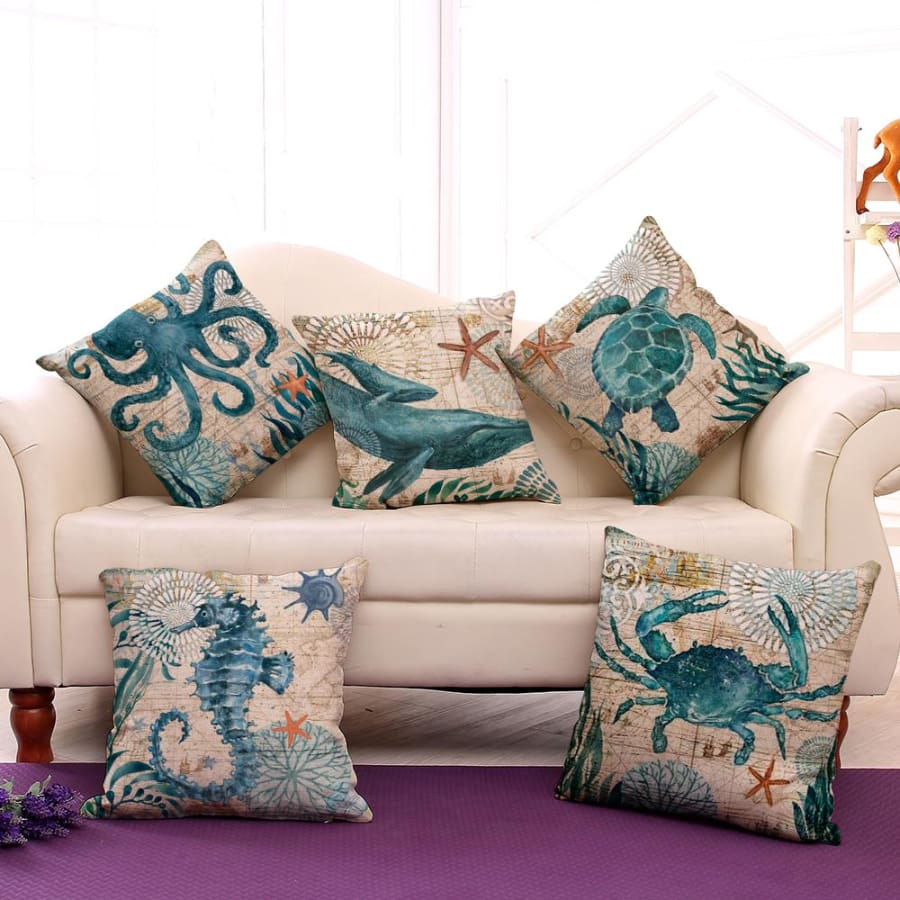 Ocean Creatures Pillowcase - pillow case
