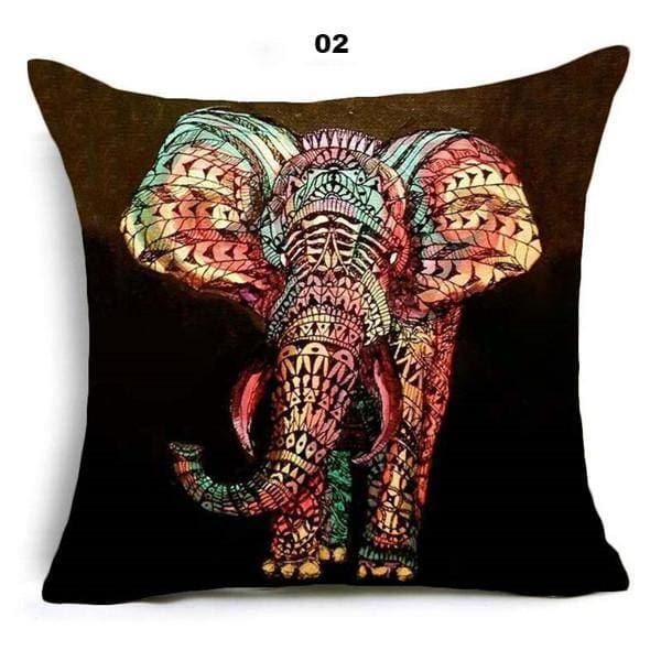 Oriental Style Pillow Cover - 45x45cm / 02 - pillow case