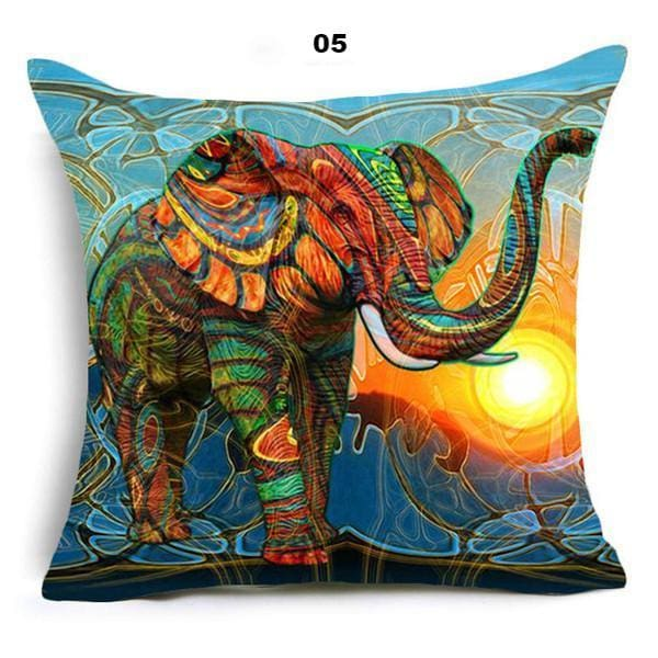 Oriental Style Pillow Cover - 45x45cm / 05 - pillow case