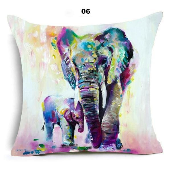Oriental Style Pillow Cover - 45x45cm / 06 - pillow case