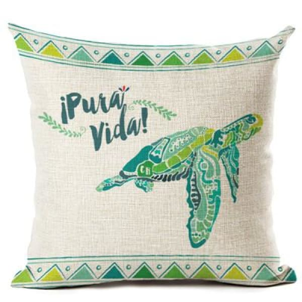 Painted Turtle Pillow Case - 450mm*450mm / Pura Vida - pillow case