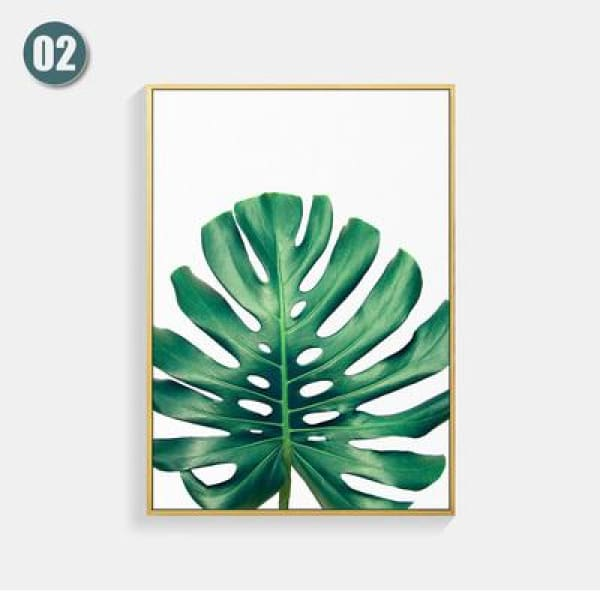 Plant Leaf Art Posters - 13X18cm No Frame / 02 - Wall Poster