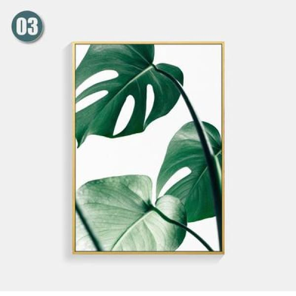 Plant Leaf Art Posters - 13X18cm No Frame / 03 - Wall Poster