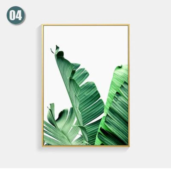 Plant Leaf Art Posters - 13X18cm No Frame / 04 - Wall Poster