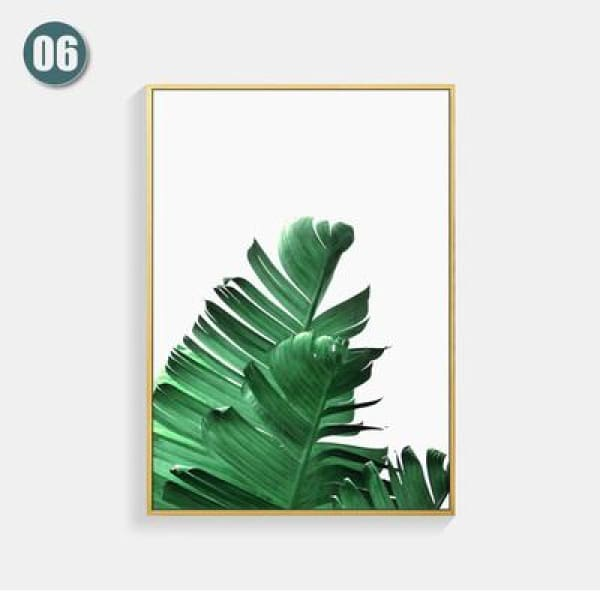 Plant Leaf Art Posters - 13X18cm No Frame / 06 - Wall Poster