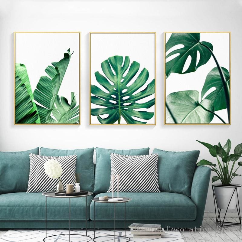Plant Leaf Art Posters - Wall Poster