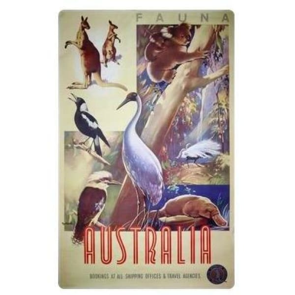 Retro Australia Posters - Animals&Birds - Wall Poster