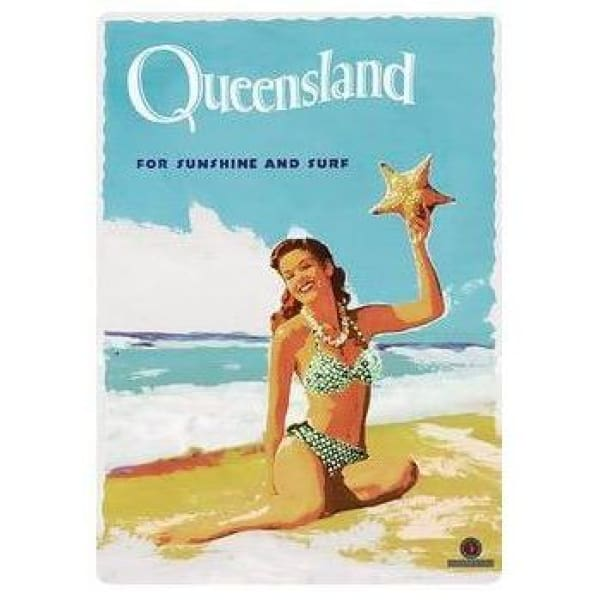 Retro Australia Posters - Queensland - Wall Poster