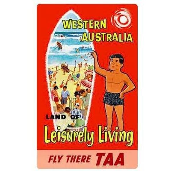 Retro Australia Posters - Western Aus - Wall Poster