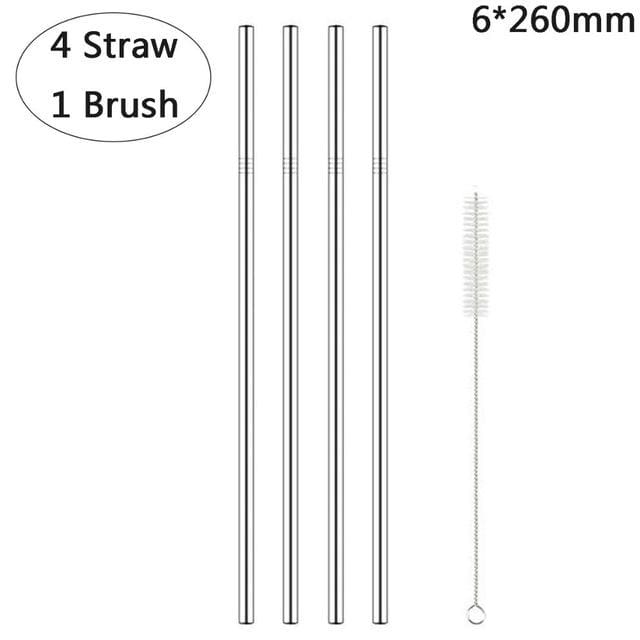 Reusable Metal Straws - U4C-1Brush - straws
