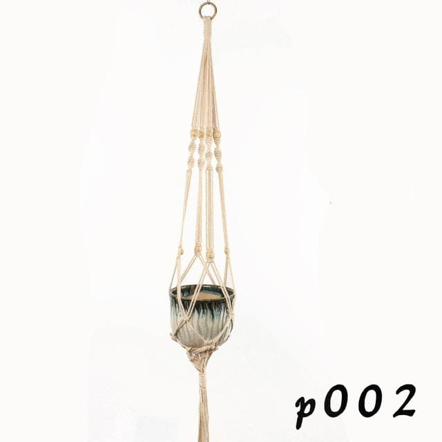Rope Hanging Planters - P002 - wall planter