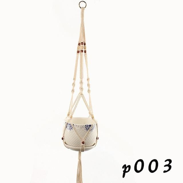 Rope Hanging Planters - P003 - wall planter