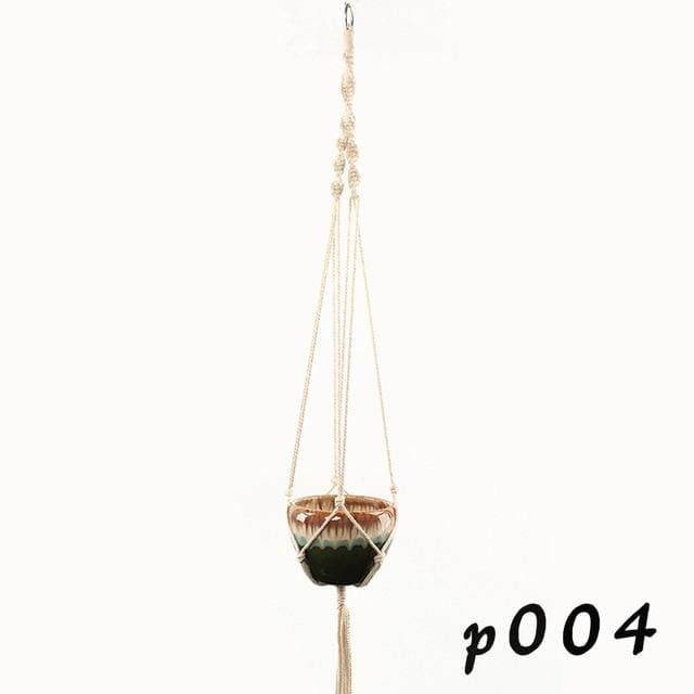 Rope Hanging Planters - P004 - wall planter