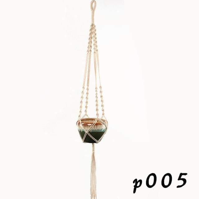 Rope Hanging Planters - P005 - wall planter