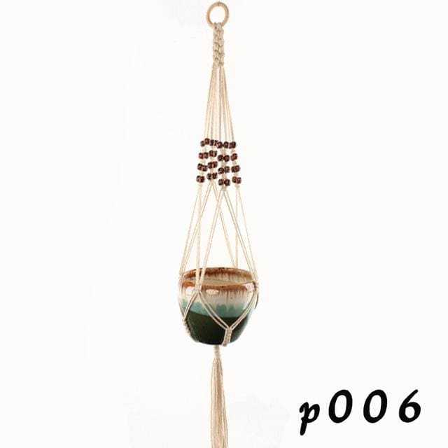 Rope Hanging Planters - P006 - wall planter