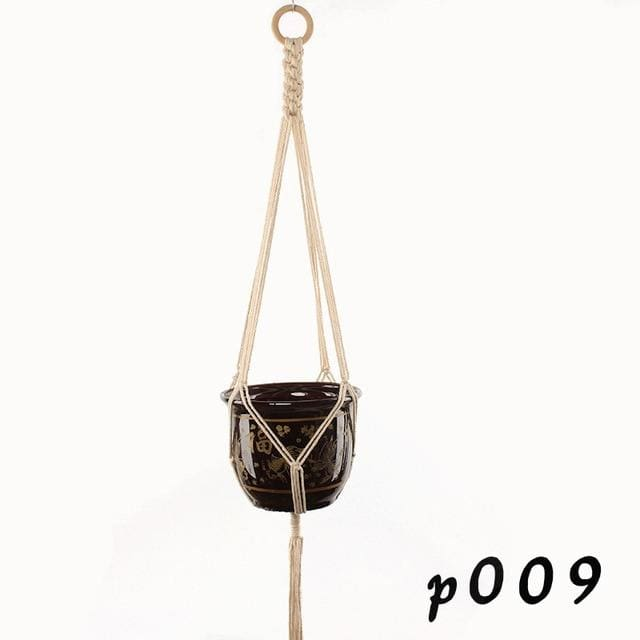 Rope Hanging Planters - P009 - wall planter