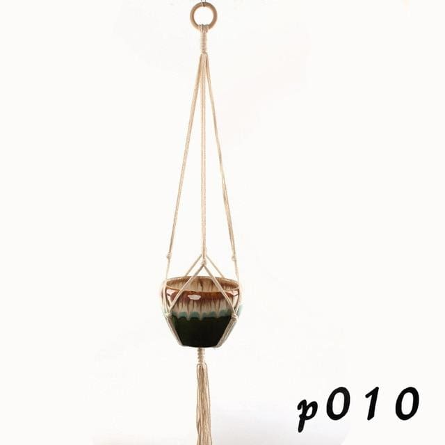 Rope Hanging Planters - P010 - wall planter