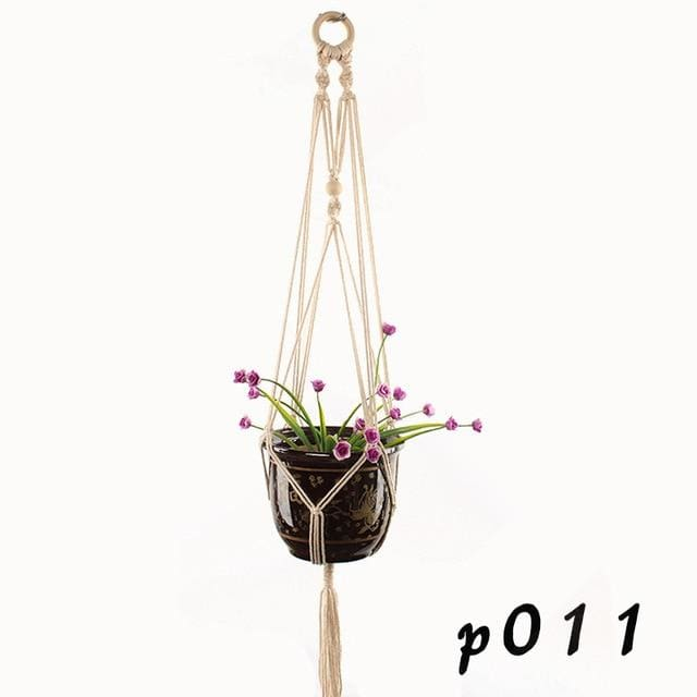 Rope Hanging Planters - P011 - wall planter
