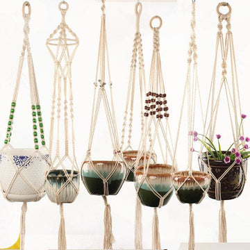 Rope Hanging Planters - wall planter