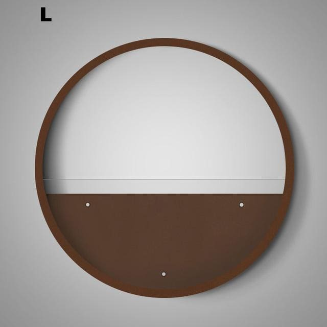 Round Wall Flower Pot - Brown L - flower pot