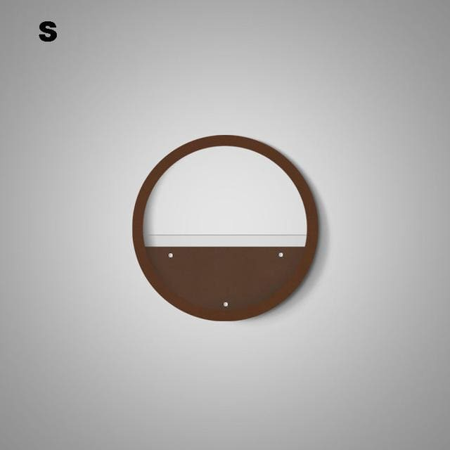 Round Wall Flower Pot - Brown S - flower pot