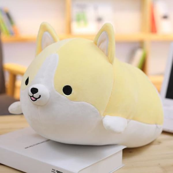 Squishy Corgi Plush Pillow - 30CM / Yellow - pillow