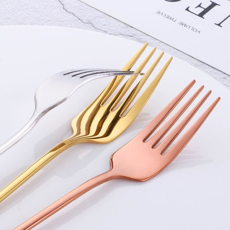 stainless steel cutlery - fork set - cutlery