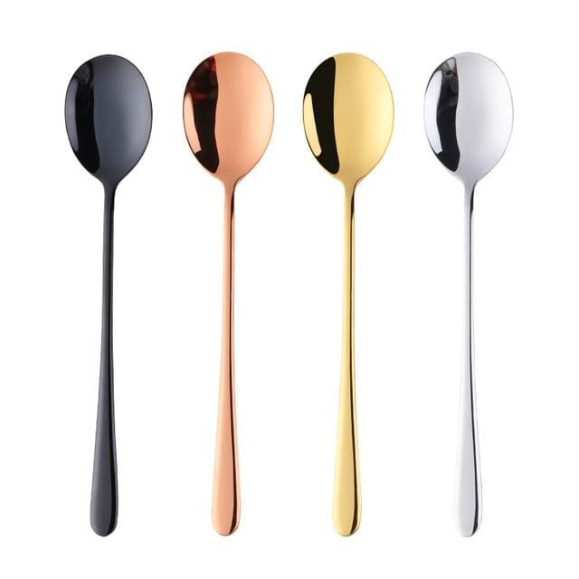 Stainless Steel Cutlery - Spoons - 4pcs as photo - cutlery