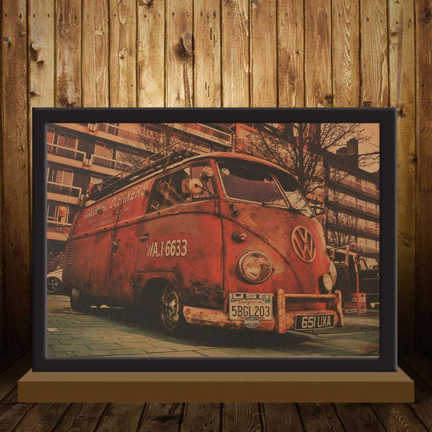 Vintage Bus Poster - Wall Poster