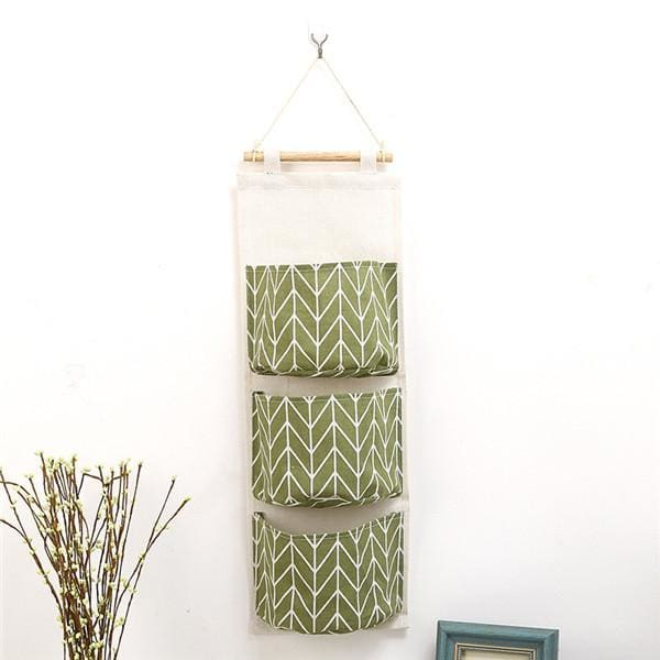 Wall Hanging Storage Bag - 14 20 cm / Green - storage bag