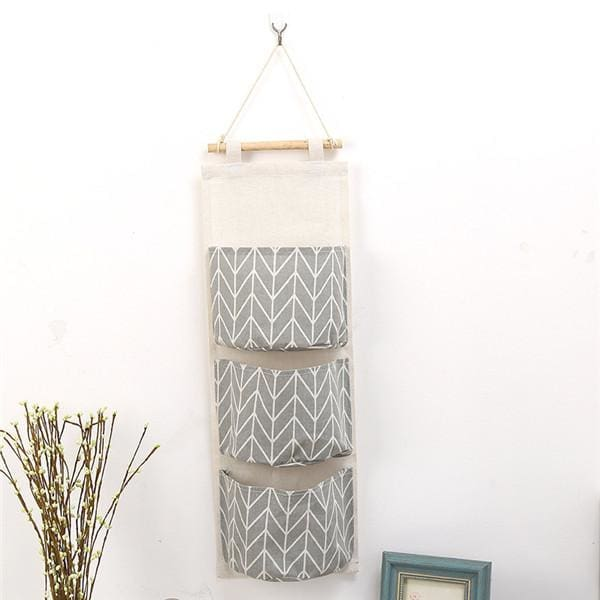 Wall Hanging Storage Bag - 14 20 cm / Grey - storage bag