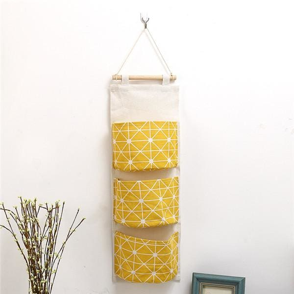 Wall Hanging Storage Bag - 14 20 cm / Yellow - storage bag