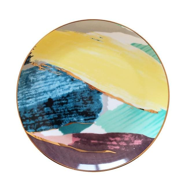 Watercolor plates - Yellow / 10 inches