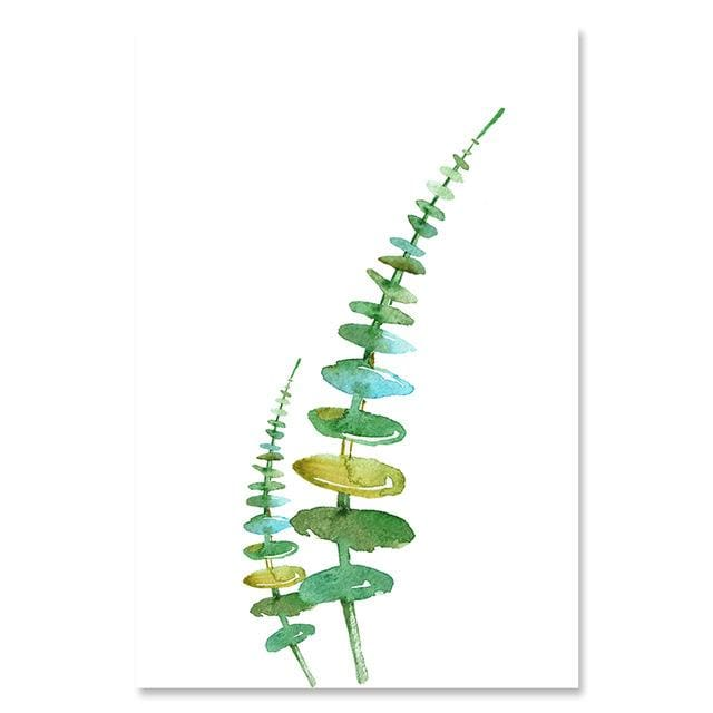 Watercolor Style Plant Poster - 13x18cm No Frame / 02 - Wall Poster