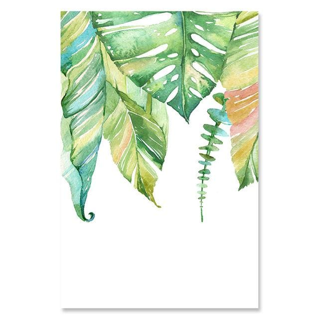Watercolor Style Plant Poster - 13x18cm No Frame / 06 - Wall Poster
