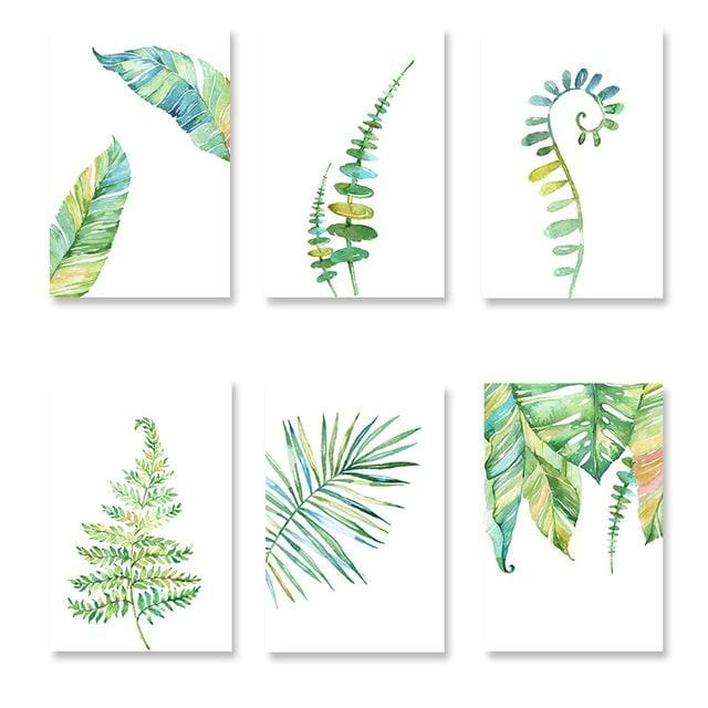 Watercolor Style Plant Poster - 13x18cm No Frame / 07 - Wall Poster