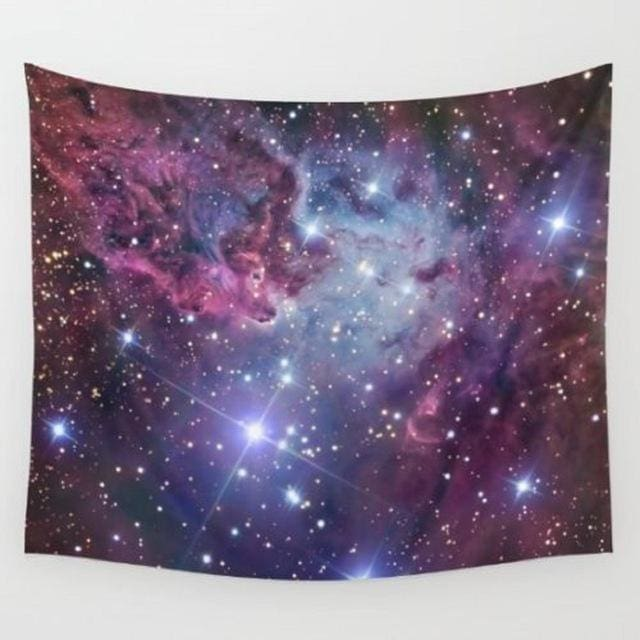 World Map Cosmos Tapestries - D / 148x148cm
