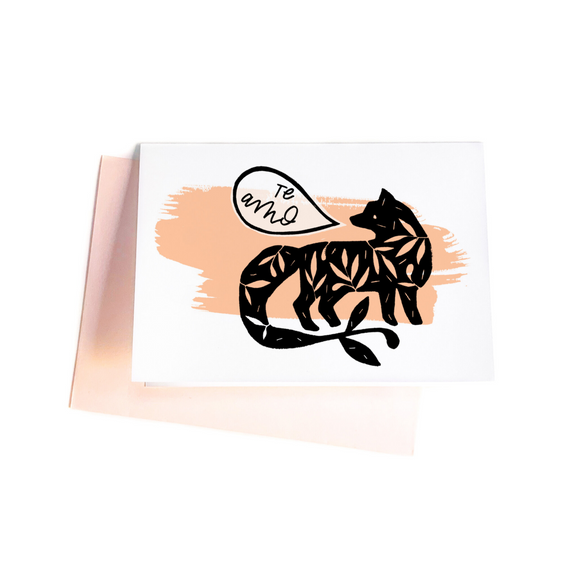 Te Amo Otomi fox greeting card