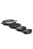 barro negro oaxacan black clay serving plates