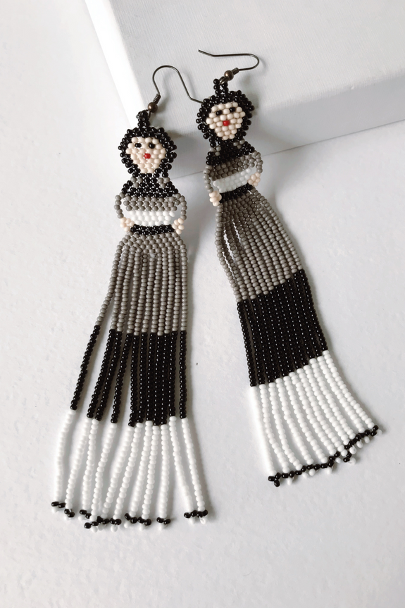 San Pablito Chaquira Earrings