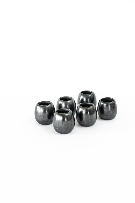 Oaxacan barro negro (black clay) shot cups
