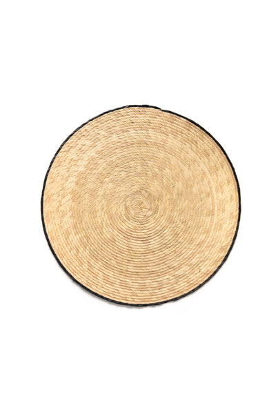 round palm leaf placemat