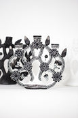 black and white tree of life candelabra