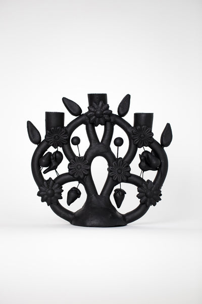 black tree of life candelabra