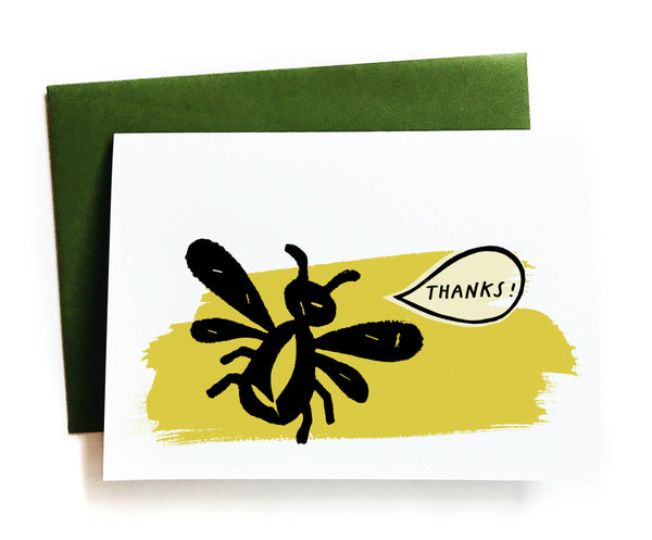 Thanks! Bee Greeting Card