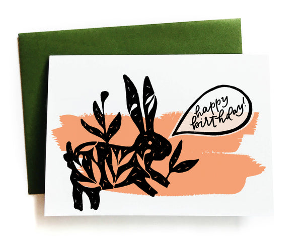 Happy Birthday! Bunny Greeting Card