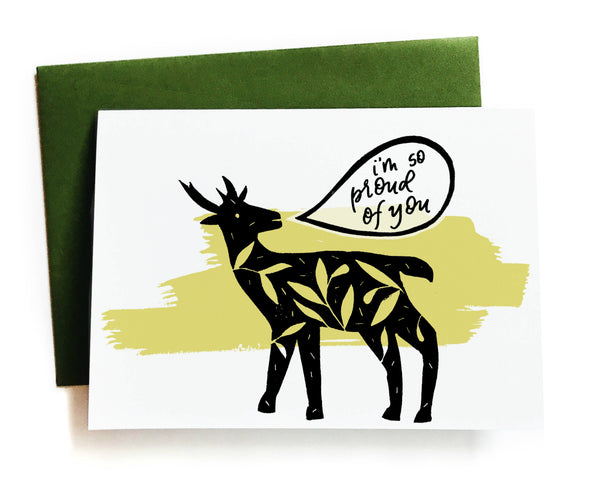 I'm So Proud Of You Deer Greeting Card